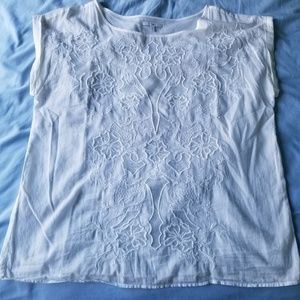 Gap Embroidered No Sleeve Blouse